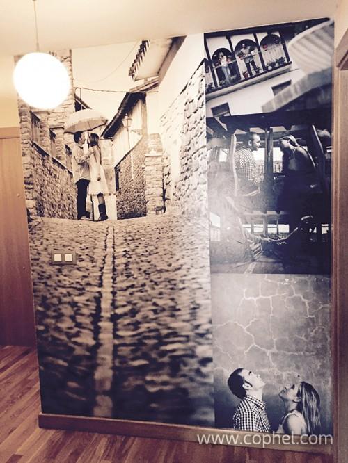 Mural pared en lona