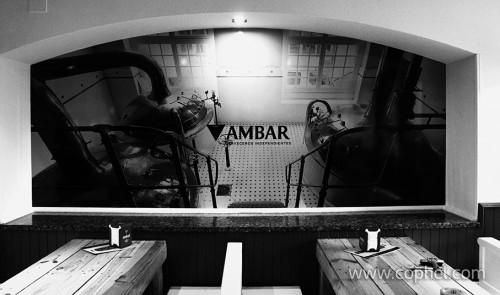 ROTULACION PARED CON VINILO_AMBAR
